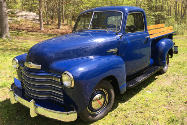 This 1950 Chevrolet pickup was auctioned at the 2016 Barrett-Jackson auction at the Mohegan Sun in Connecticut.