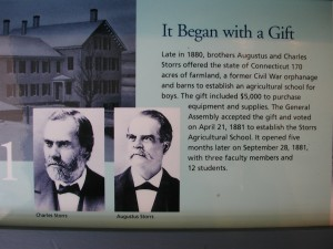 Agriculture started the learning at University of Connecticut.