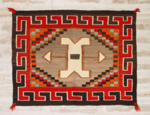 Antique Navajo Single Saddle Blanket circa 1920s