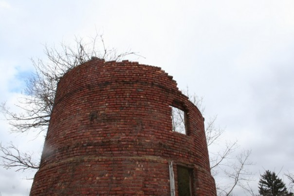 The brickwork in this old silo is incredible.