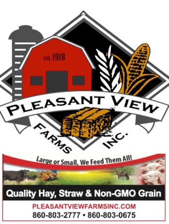 Premium quality hay, straw, grains, Pleasant View Farms, Inc. of Somers, Conn.