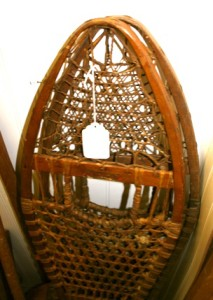 Wooden snowshoes.