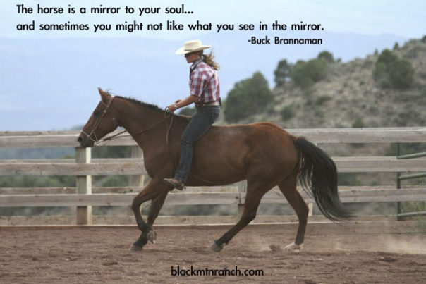 """""""The horse is a mirror to your soul. Sometimes you might not like what you see. Sometimes you will,"""" said Buck Brannaman."""