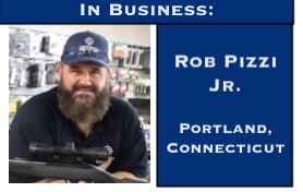 Rob Pizzi Junior, owner of Central Connecticut Arms in Portland, Connecticut.