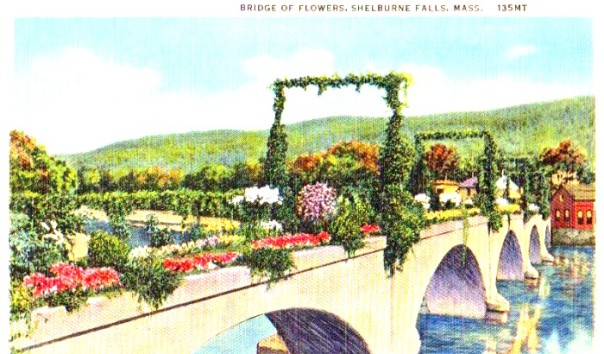 A creative community made an old trolley bridge flower - and its drawn people to it beauty ever since.