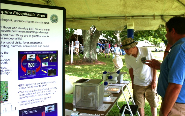 A display about EEE at the annual CAES open house for the public held at Lockwood Farm. CB/MDP