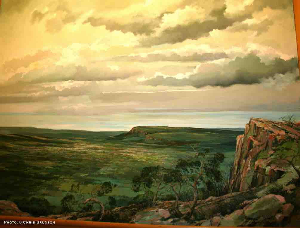 The Silver City - Chauncey Peak by Eric Sloane. Photo on site by Chris Brunson