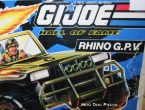 G.I. Joe Rhino G.P.V., in the box. Slight wear.