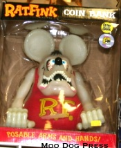 Ratfink with movable arms in box.
