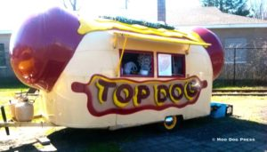 Top Dog hot dog stand.