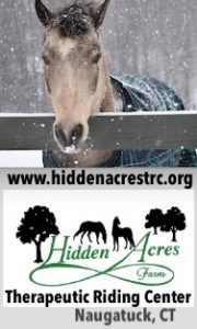 Hidden Acres Therapeutic Riding Center and Farm of Connecticut is dedicated to improving the minds, bodies, and spirits of children and adults with physical, developmental, and emotional challenges through the benefits of therapeutic riding and equine-assisted activities, the facility was founded in 2008 by Mary and Theron Simons. Hidden Acres Therapeutic Riding Center is a non-profit organization located on 45 acres in Naugatuck, Connecticut.