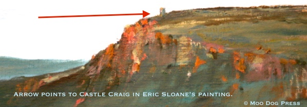 Castle Craig, Meriden, Connecticut, as painted in a mural by Eric Sloane.